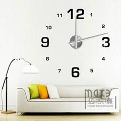 Wall decals self-adhensive wall sticker 3D big diy wall clock
