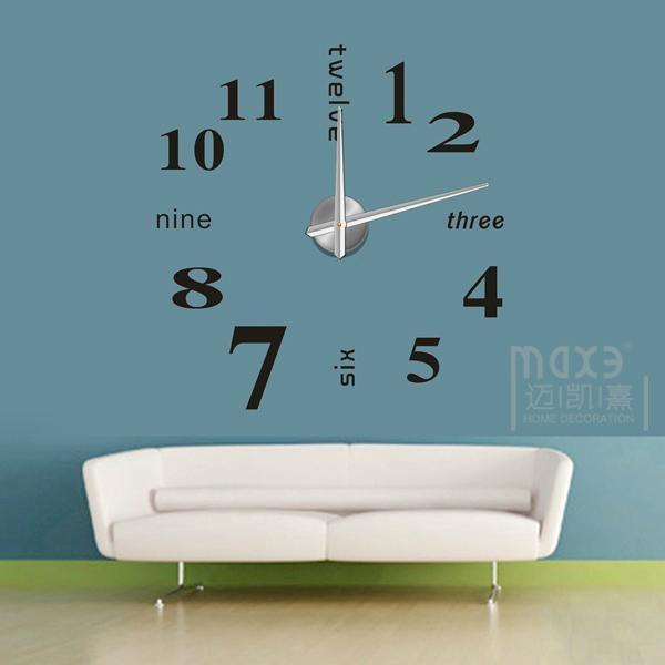 Wall Decals Selfadhensive Wall Sticker D Big Diy Wall Clock - Wall decals clock