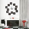 Home decor wall decals 3D big EVA material wall clock