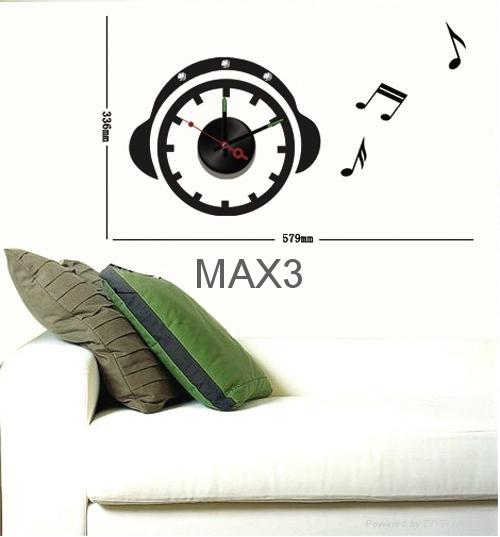 Wall decals diy wall sticker clock 5