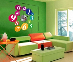 Home decoration diy wall clock pvc wall stickers