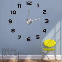 Home decals EVA 3D wall sticker big wall clock
