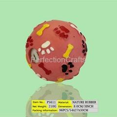 Nature rubber ball
