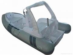 玻璃钢底壳充气游艇