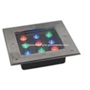 Waterproof LED Underground Light 9x1W  1