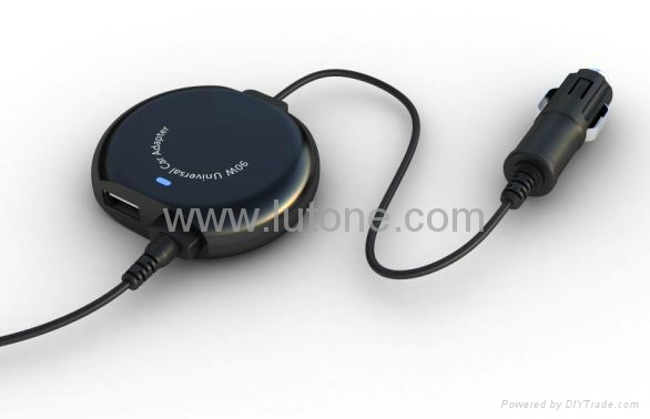 Car Adapter /Charger for Dell Acer Asus IBM 90W- Smallest with 2.0 USB TA09C7 1