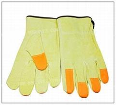 Pig split full leather gloves