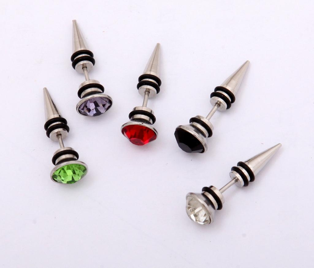 Crystal men ear stud cartilage tragus earrings body for Men s jewelry earrings