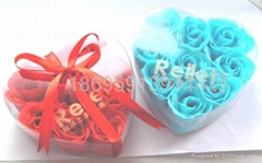 6 rose soap flower Christmas New Year Valentine's Day gift wedding supplies