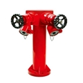 2 ways fire hydrants with valve,fire