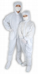 Cleanroom workwear antistatic coverall