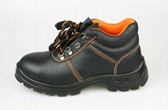 Antistatic safety shoe with steel toe