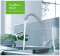 ABS white plastic single handle kitchen