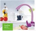 ABS white plastic swan neck kitchen sink