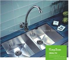 ABS chrome gooseneck wall mounted kitchen faucet