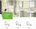 ABS chrome double handle bathroom faucet