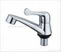 ABS chrome plastic pillar cock,basin faucet 2