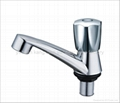 ABS chrome plastic pillar cock,basin faucet 4