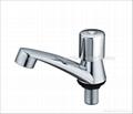 ABS chrome plastic pillar cock,basin faucet 5
