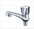 ABS chrome plastic pillar cock,basin faucet 3