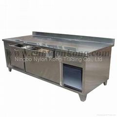 Brushed kitchen cabinet/