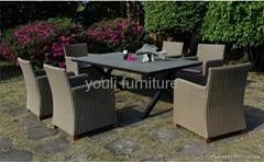 garden dining set,outdoor wicker furniture