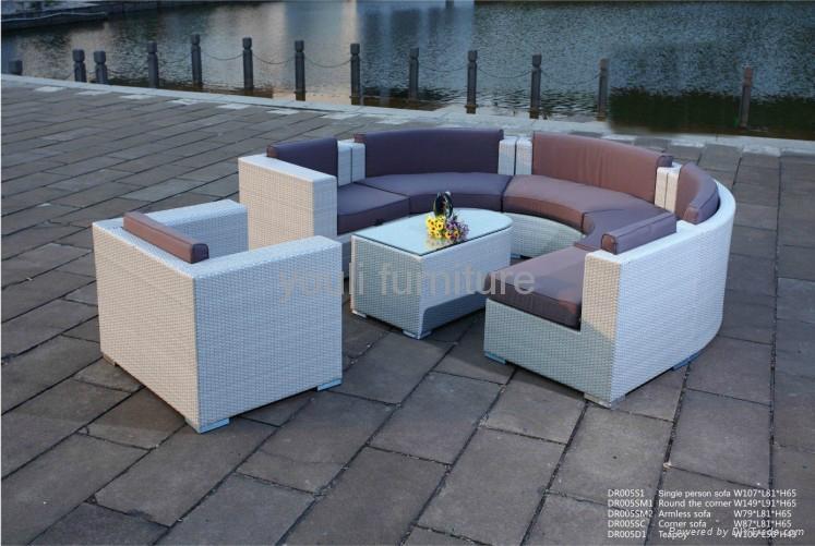 garden outdoor wicker sofa  1