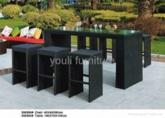 bar set rattan bar table