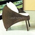 PE rattan leisure chair