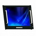 19 inch Rack mount LCD monitor with touch screen