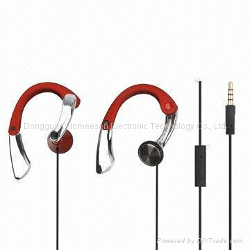 3D Earphones with Adjustable Ear Loops for Smart Phone, MP3 Player 3D006M 1