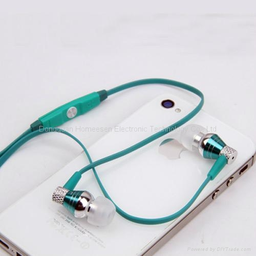 Metallic Wired Earphones with in-line MIC and Remote for Apple iPhone EP322MV 1
