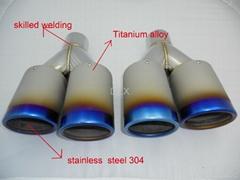 exhaust muffler dual tips Titanium alloy