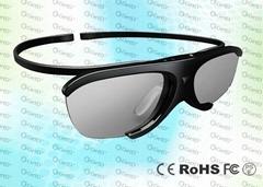 Light weighted 3D TV IR Active Shutter Glasses GH1000