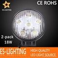 Round 18W LED Work Light for Truck ATV