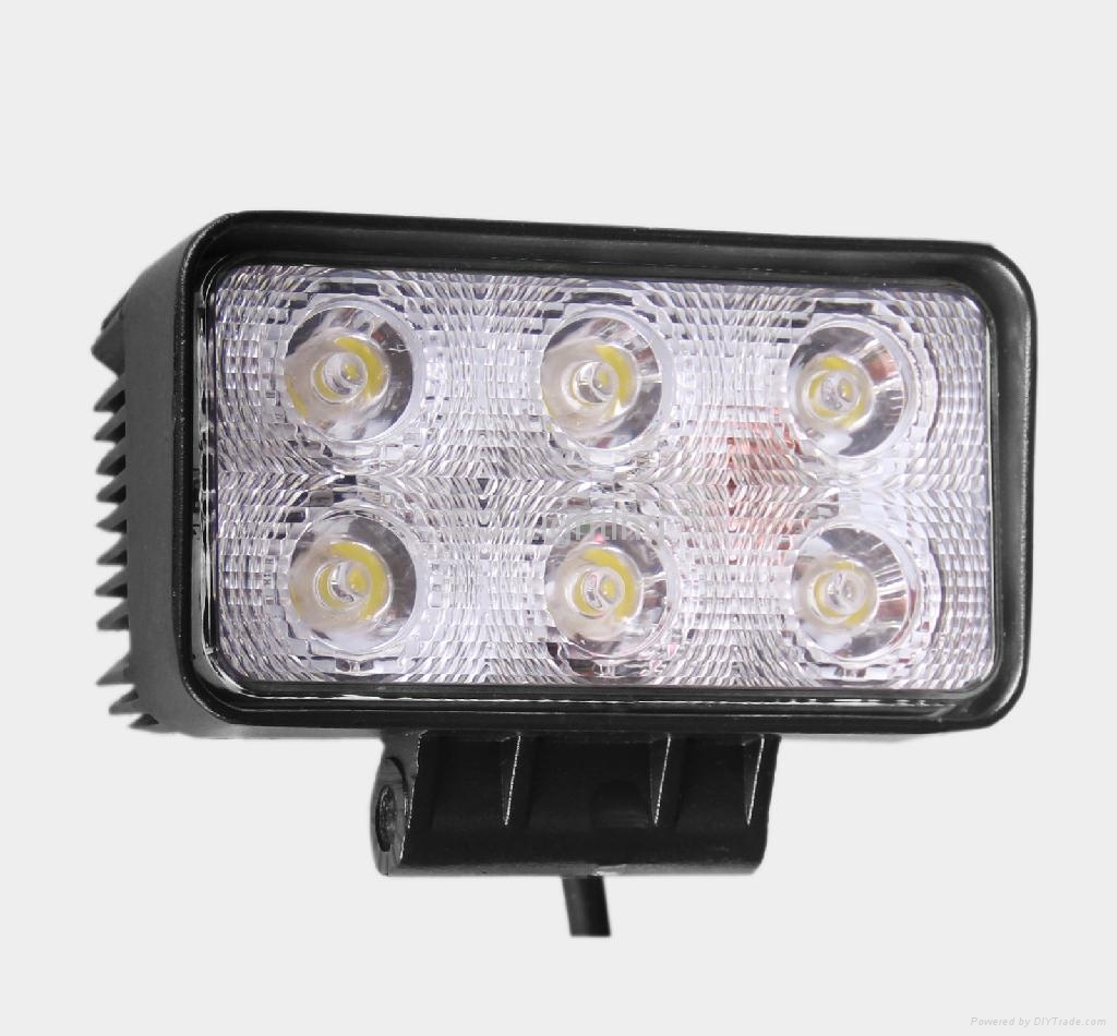 18W LED Work Light Truck ATV SUV JEEP Boat Off Road Tractor, Cool White  2