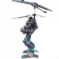 2CH Mini RC Helicopter Robot