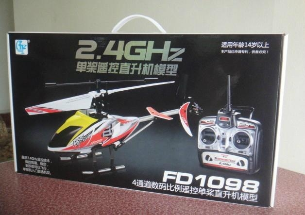 Single Blade 2.4G 4 channel RC Helicopter 3