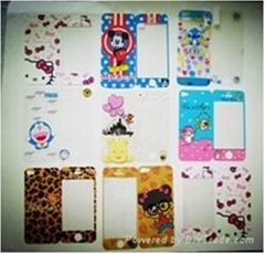 Cartoon designs effect screen protector for iPhone 3g/4g/4gs/5g