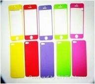 custom color screen protector for iphone 4/4s/5 screen protector guard