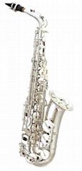 Alto sax,like Selmer 802,si  er plated body & keys.
