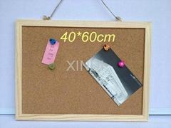 corkboard wood frame