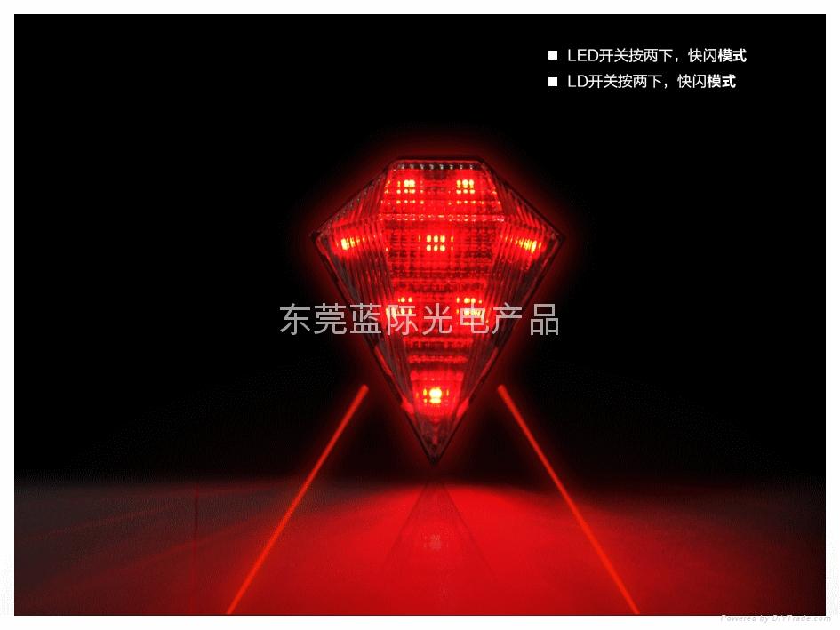 LANJI可充电式防水自行车激光尾灯 5