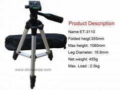 ENZE ET-3110 Light Weight Aluminum Tripod For Digital slr Cameras