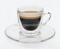 Double wall espresso cup set
