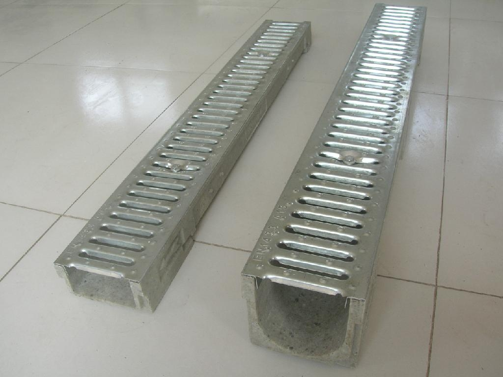 Stamping cover boardfor linear polymer floor drain channel for Ground drain