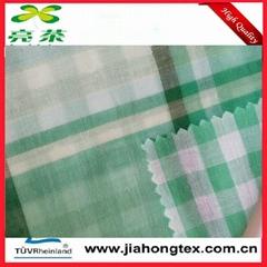 100 cotton double layer poplin check fabric