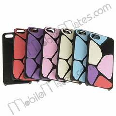 Lizard Cased Leather Coated Hard Cover for iPhone5