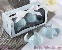 婚禮小物 藍色小魚調味罐,歐美婚慶用品,創意回禮,婚禮回禮TC010