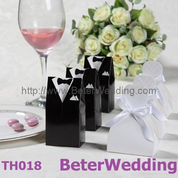 Wedding Dress & Tuxedo Wedding Favor Boxes TH018 1